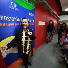 Maestra Carmen Villoro, directora de la Biblioteca Iberoamericana durante la inauguración de los conversatorio