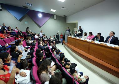 Inauguración del Primer Encuentro Universitario de Cuidados Paliativos, organizado por el Centro Universitario de Ciencias de la Salud (CUCS) de la Universidad de Guadalajara (UdeG)