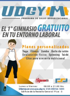 Gimnasio gratuito para trabajadores de la Universidad de Guadalajara