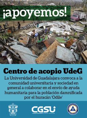Centro de Acopio UDG - Ayuda damnificados de Odile