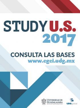 Cartel con texto informativo para consultar las bases del Study U.S. 2017 en la página de la CGCI de la Universidad de Guadalajara.
