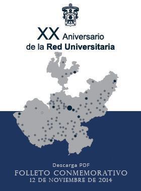 XX Aniversario de la Red Universitaria - Folleto