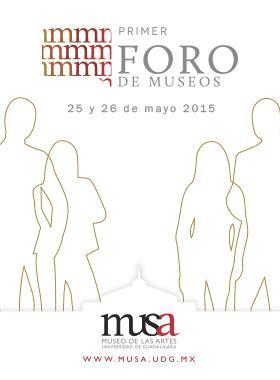 Siluetas femeninas y masculinas alrededor de la silueda del museo musa