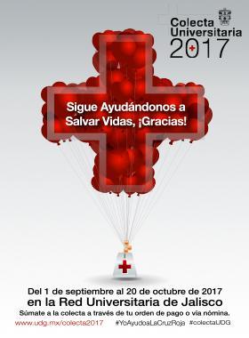 Invitación a sumarse a la colecta universitaria de la Cruz Roja 2017; a realizarse del 01 de septiembre al 20 de octubre en toda la Red Universitaria.