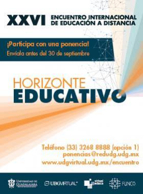 Cartel informativo sobre el Encuentro Internacional de Educación a Distancia
