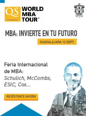 Cartel con información del evento World MBA Tour