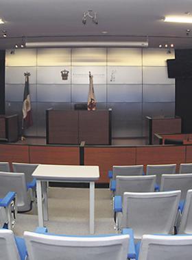 Sala de juicios de la universidad de guadalajara