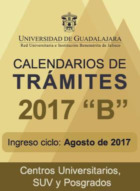 """Cartel informativo, calendarios de tramites ciclo 2017 """"B"""""""