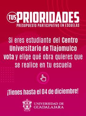 Tus Prioridades, presupuesto participativo en escuelas - CUTlajomulco