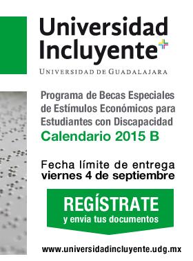 Registro a Estimulo Fecha límite 4 de septiembre Calendarío 2015 B