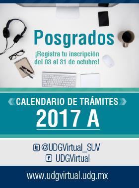 Calendario de Trámites de Posgrados UDG-Virtual