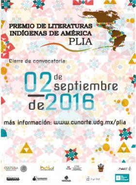 Premio de Literaturas Indígenas de América, PLIA 2016