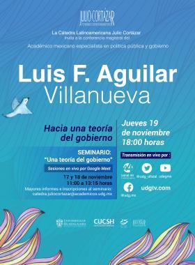 Cátedra Latinoamericana Julio Cortázar con Luis F. Aguilar Villanueva