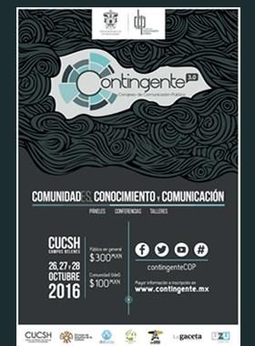 """Tercer Congreso de Comunicación Pública """"Contingente 3.0, Comunidad(es), Comunicación y Comunicación""""."""