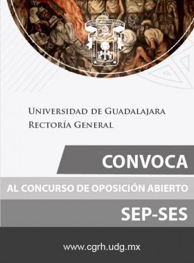 Cartel con texto informativo acerca de la convocatoria al concurso de oposición abierto SEP-SES, en el cual se establece un enlace de la Coordinación General de Recursos humanos, para hacerlo.