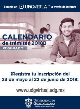 Calendario de Trámites de Posgrados 2018 B