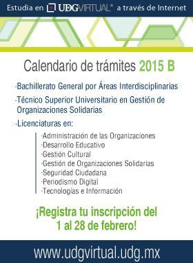 Calendario de tramites 2015 B UDG Virtual