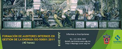 Cartel de Curso: Formación de Auditores Internos en Gestión de la Energía ISO-50001:2011
