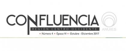 Cartel con texto informativo y de invitación para descargar la revista Confluencia, número 04, octubre-diciembre 2017.