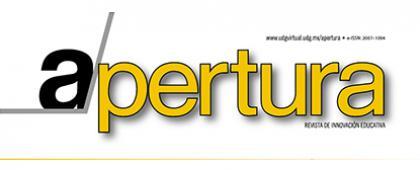 """Cartel informativo para consultar Apertura, revista de innovación educativa """"Formación integrada a las competencias digitales"""". Nuevo número vol.10 (1), Abril-Septiembre 2018. ¡Consulta la edición digital!"""