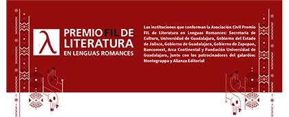 Cartel informativo de la Convocatoria del Premio FIL de Literatura 2019. Fecha límite de recepción de candidaturas 19 de julio. Invitan Universidad de Guadalajara y la Feria Internacional de Libro