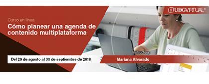 Cartel informativo sobre el Curso: Cómo planear una agenda de contenido multiplataforma