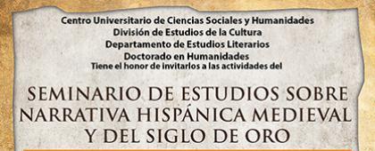Cartel de Seminario de Estudios sobre Narrativa Hispánica Medieval y del Siglo de Oro