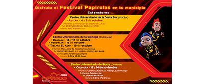 Cartel informativo sobre Disfruta el Festival Papirolas en tu municipio