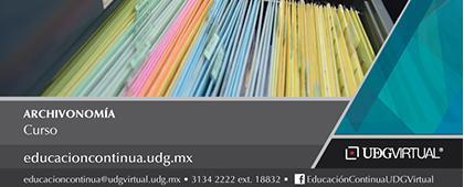 Cartel informativo sobre el Curso: Archivonomía