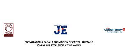 Cartel informativo sobre la Convocatoria para la Formación de Capital Humano Jóvenes de Excelencia Citibanamex
