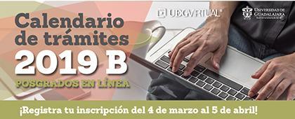Cartel informativo sobre la Oferta académica de posgrados de UDGVirtual