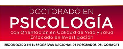 Cartel informativo sobre el Doctorado en Psicología con orientación en calidad de vida y salud enfocada en investigación