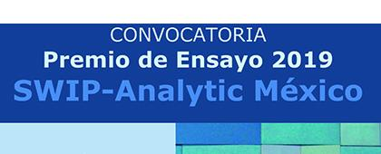Cartel informativo del Tercer Premio en Ensayo SWIP-Analytic México. Fecha límite de envió de resúmenes y ensayos 30 de julio. Invitan SWIP-Analytic México