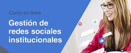 Cartel informativo sobre el Curso: Gestión de redes sociales institucionales