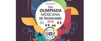 Cartel informativo sobre la 2da Olimpiada Mexicana de Tecnología 2018