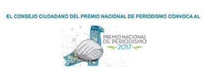 Cartel informativo sobre el Premio Nacional de Periodismo 2017