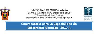 Cartel informativo sobre la convocatoria a la Especialidad de Enfermería Neonatal 2019A