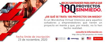 """Programa de Becas Santander """"100 Proyectos sin Miedo"""""""