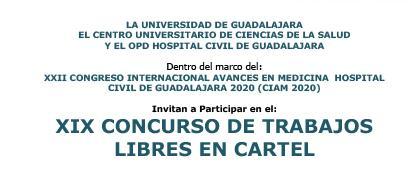 Décimo noveno Concurso Trabajos Libres en Cartel. Fecha límite para la recepción de resúmenes: 14 de enero de 2020.