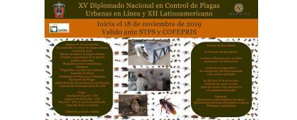 XV Diplomado Nacional en Control de Plagas Urbanas en línea y XII Latinoamericano. Inicio: 18 de noviembre