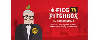Cartel informativo sobre la Convocatoria de proyectos para FICG TV Pitchbox