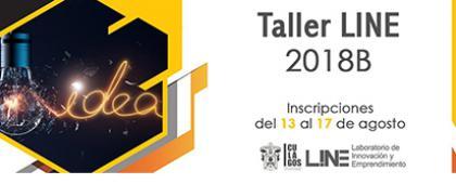 Cartel informativo sobre el Taller del Laboratorio de Innovación y Emprendimiento del CULagos, en el  Laboratorio de Innovación y Emprendimiento, CULagos