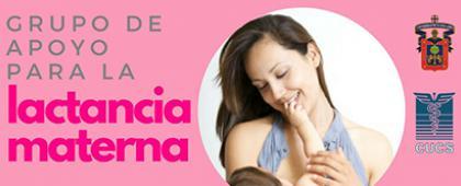 Cartel de Grupo de apoyo para la lactancia materna.