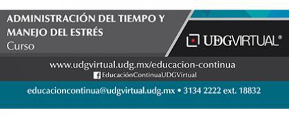 Cartel informativo sobre la convocatoria del Curso: Administración del tiempo y manejo del estrés