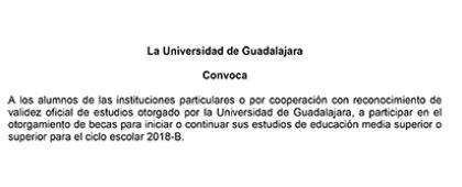 Cartel informativo sobre el Concurso de becas IRVOES 2018B, para el otorgamiento de becas para iniciar o continuar sus estudios de educación media superior o superior