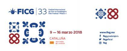 Cartel informativo y de invitación al evento: Festival Internacional de Cine en Guadalajara, FICG33. A realizarse del  9 al 16 de marzo, en sus diferentes sedes y programación.