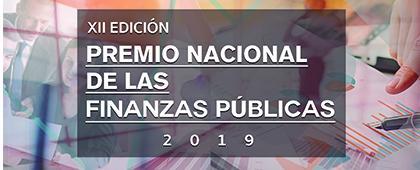 Cartel informativo sobre el Premio Nacional de las Finanzas Públicas