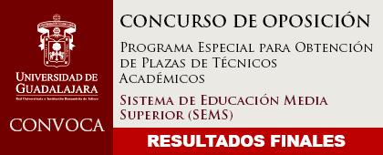 Cartel informativo para dar a conocer los Resultados del programa especial para obtener plazas de técnico académico del SEMS - 6 de mayo 2019