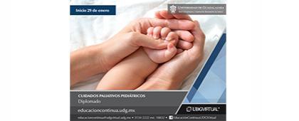 Cartel informativo sobre el Diplomado en Cuidados Paliativos Pediátricos