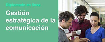 Cartel informativo sobre el Diplomado en línea: Gestión estratégica de la comunicación